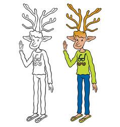 Deer waving affably vector