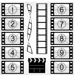 elements cinema vector image