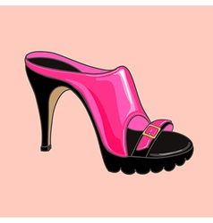Fashion shoes pink vector image