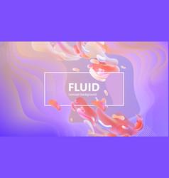 fluid gradient shapes composition liquid color vector image