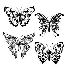 four decorative butterflies vector image