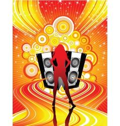 Funky disco divas vector