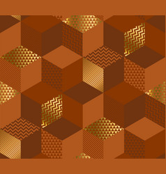 geometric cubes 3d seamless pattern vector image
