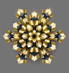 golden luxury background gold snowflake vector image