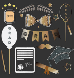 Graduation package two thousand eighteen dark vector