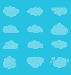 Halftone clouds vector