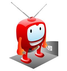 happy tv vector image