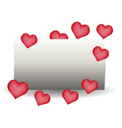 happy valentine day greeting card concept with vector image