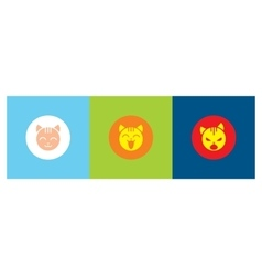 icons with emotions cat vector image