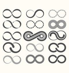 Infinity symbol set15 signs eternity vector