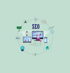 infographics seo flat design vector image