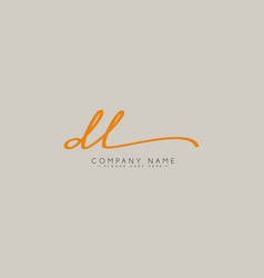 Initial letter dl logo - hand drawn signature logo vector