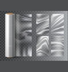 isolated light polyethylene plastic food wrap vector image