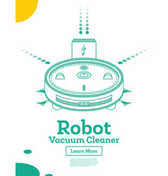 Isometric robot vacuum cleaner isolated on white vector