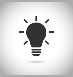 light bulb line icon idea sign solution vector image