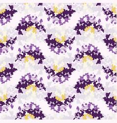Lilac tie dye broken wavy stripe background vector