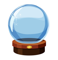 magic ball icon cartoon style vector image