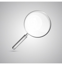 Magnifying Glass Isolated on Grey Background vector image