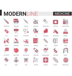 Medicine healthcare flat line icon vector