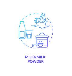 Milk and powder blue gradient concept icon vector