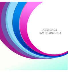 Modern abstract colorful background design vector