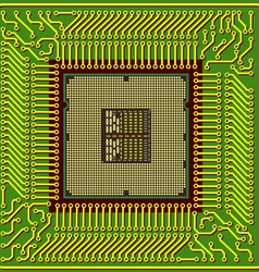 modern computer processor chip vector image