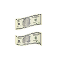money paper banknotes isolated isometric icon vector image
