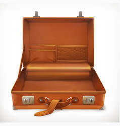 open suitcase 3d icon vector image