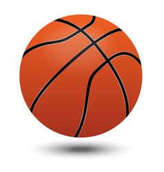 orange basketball ball design and shadow on white vector image