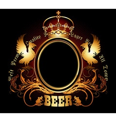 Ornate beer background vector