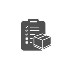 parcel checklist simple icon logistics check vector image