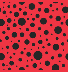 pattern seamless with ladybug red background vector image