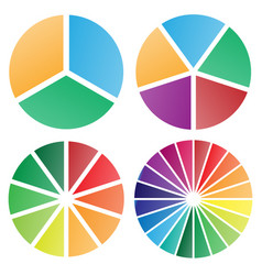 pie chart group vector image