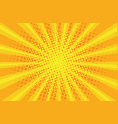 pop art sunburst pattern comic halftone vector image