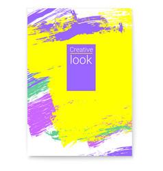 poster summer colorful design for flyer vector image