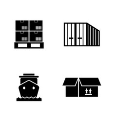 Priority shipping simple related icons vector