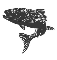 Salmon silhouette vector