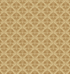 Seamless floral damask wallpaper vector