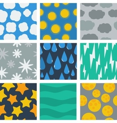 seamless pattern weather conditions vector image