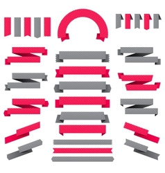 set ribbons labels and stickers vector image
