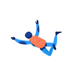 skydiver engaged in a dangerous sport making jumps vector image
