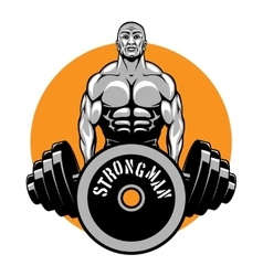 t shirt design for bodybuilders and fitness vector image rh vectorstock com bodybuilding logos free bodybuilder logos