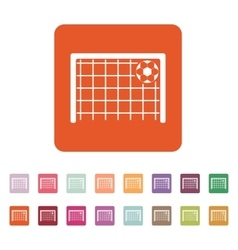 The football goal icon Soccer symbol Flat vector image