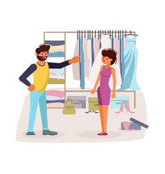 the married couple quarrels in flat design vector image