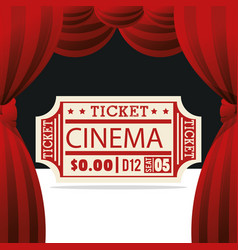 Ticket cinema entertainment icon vector