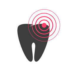 tooth pain icon flat or toothache disease vector image