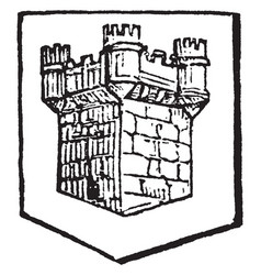 Turreted are annexed example the square tower has vector