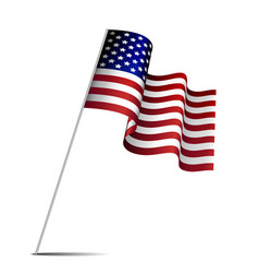 waving american flag vector image