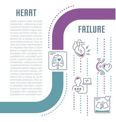 Website banner and landing page heart failure vector