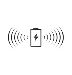 wireless battery charging icon can be used on web vector image